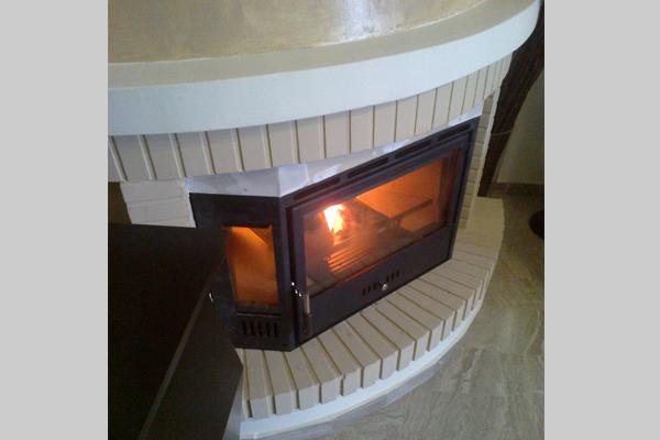 Τζάκι μετά την τοποθέτηση πολύγωνης κασέτας Θερμοζέλ