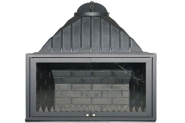 Ενεργειακό τζάκι μαντεμένιο 80 ανοιγόμενη πόρτα