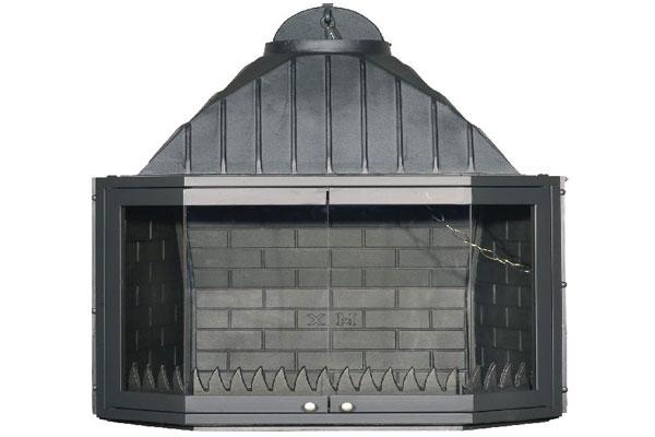 Ενεργειακό τζάκι μαντεμένιο 80 πολύγωνο ανοιγόμενη πόρτα