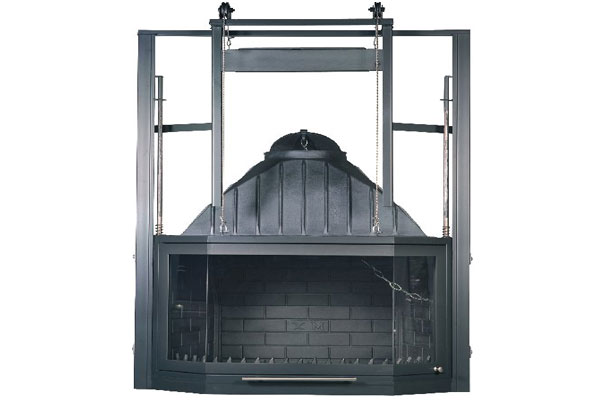 energy save fireplace 80 polygon cast iron natural flow