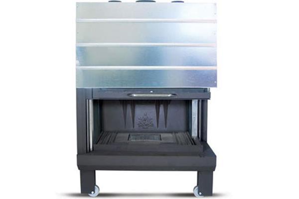 Ενεργειακό τζάκι αερόθερμο Superkamin Sener 950 C δίφατσο ανοιχτό