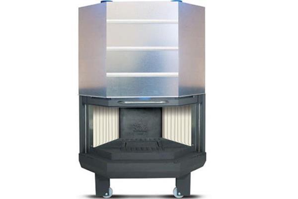 Ενεργειακό τζάκι αερόθερμο Superkamin Sener 900 R πολύγωνο ανοιχτό