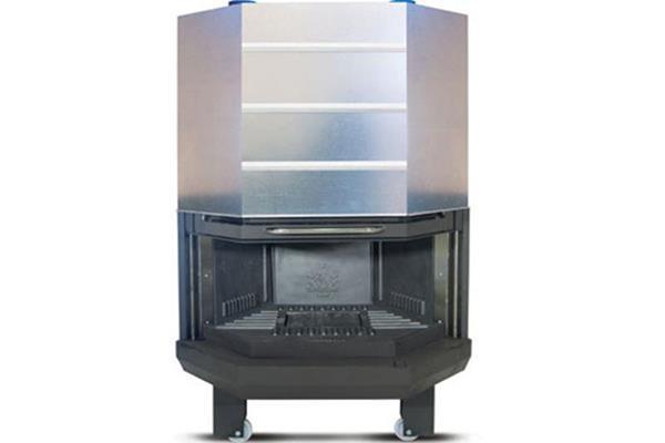 Ενεργειακό τζάκι αερόθερμο Superkamin Sener 900 C πολύγωνο ανοιχτό