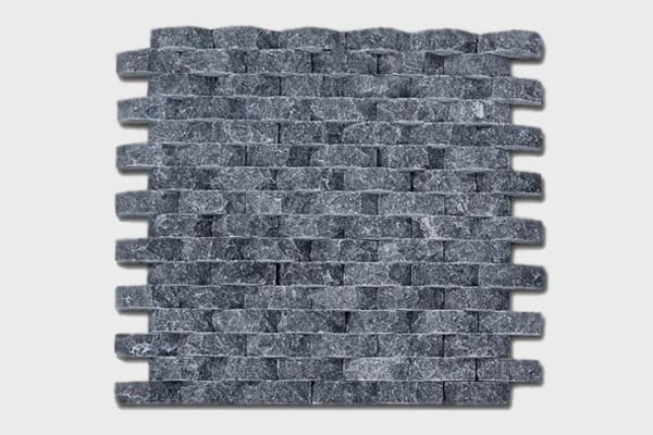 Ψηφίδα Μαύρη Οβάλ 30x30cm