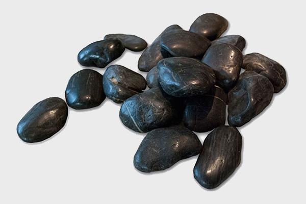 Βότσαλα γυαλισμένα μαύρα
