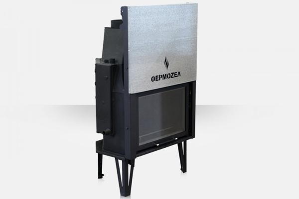 Ενεργειακό τζάκι καλοριφέρ AQUA 800 Θερμοζέλ με συρόμενη πόρτα