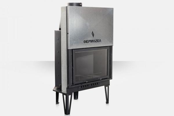 Ενεργειακό τζάκι καλοριφέρ AQUA 900 Θερμοζέλ με συρόμενη πόρτα