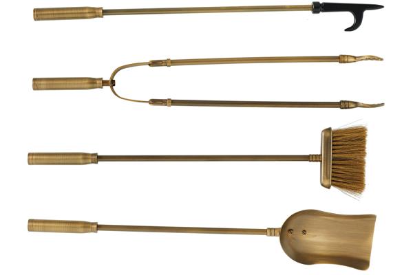 Εργαλεία τζακιού 1200 Μπρονζέ