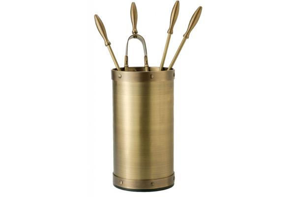 Κουβαδάκι τζακιού με εργαλεία 1160-K2 Όρο ματ / όρο