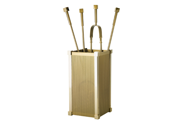 Κουβαδάκι τζακιού με εργαλεία 1220-K17 Όρο ματ / όρο
