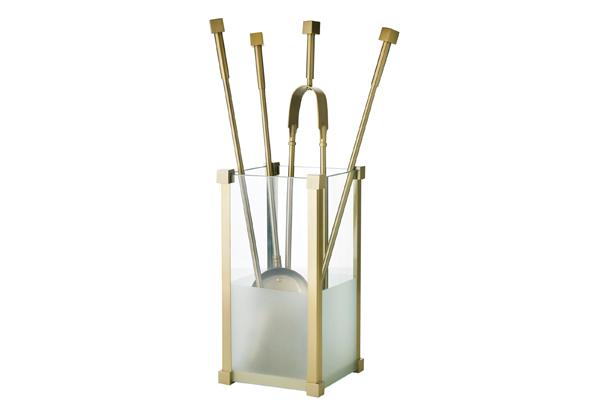 Κουβαδάκι τζακιού με εργαλεία 1220-K20 Όρο ματ