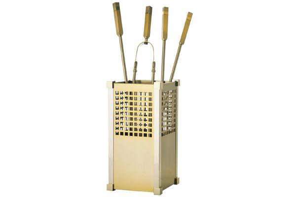 Κουβαδάκι τζακιού με εργαλεία 1225-K25 Όρο ματ / όρο