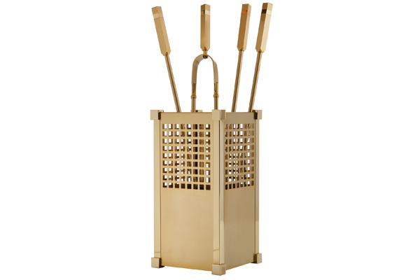 Κουβαδάκι τζακιού με εργαλεία Κ25-1225 Όρο ματ - όρο