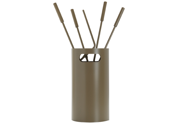 Κουβαδάκι τζακιού με εργαλεία Κ32 - 1230 Καφέ ελιάς