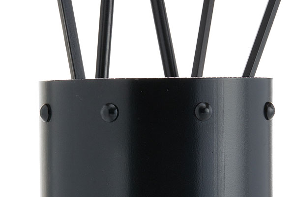 Fireplace accessories bucket with tools Κ05 - 0671 black details