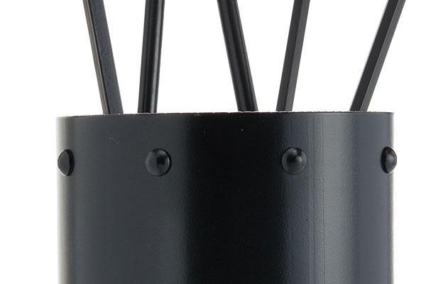 Κουβαδάκι τζακιού με εργαλεία Κ05-0671 μαύρο λεπτομέρεια
