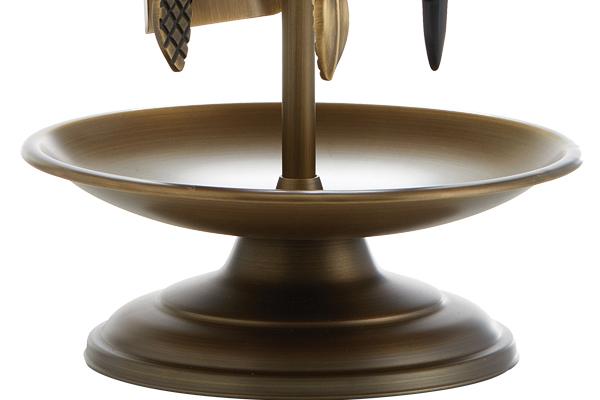 Κρεμανταλάς τζακιού 1200 - Β06 Μπρονζέ λεπτομέρεια
