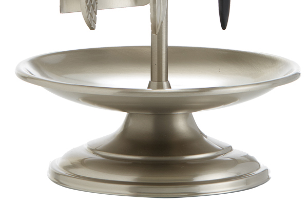 Κρεμανταλάς τζακιού 1200 - Β06 Νίκελ ματ - χρώμιο λεπτομέρεια