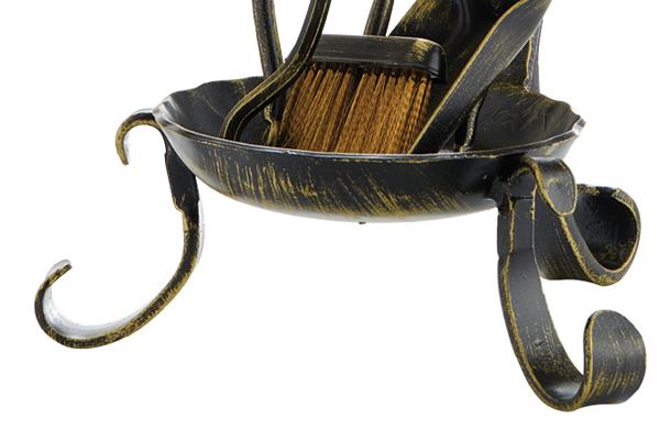 Κρεμανταλάς τζακιού 0670-B17 Μαύρο χρυσό πατίνα λεπτομέρεια