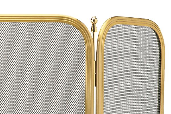 Προστατευτικό τζακιού 516 χρυσό ματ λεπτομέρεια