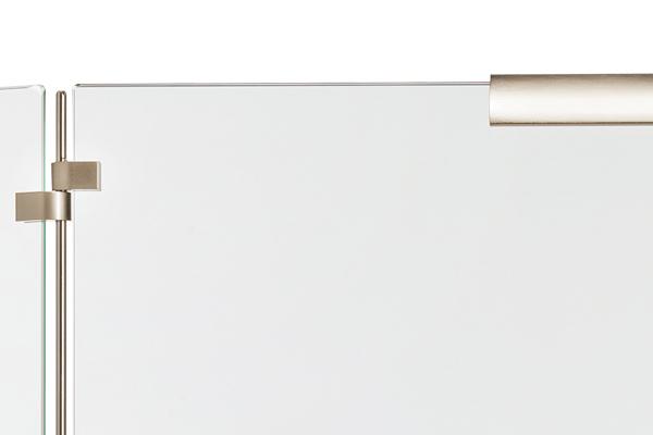 Προστατευτικό τζακιού 561 νίκελ ματ λεπτομέρεια