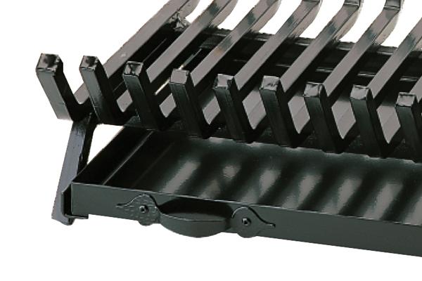 Σχάρα για τζάκι 651 με σταχτοθήκη λεπτομέρεια