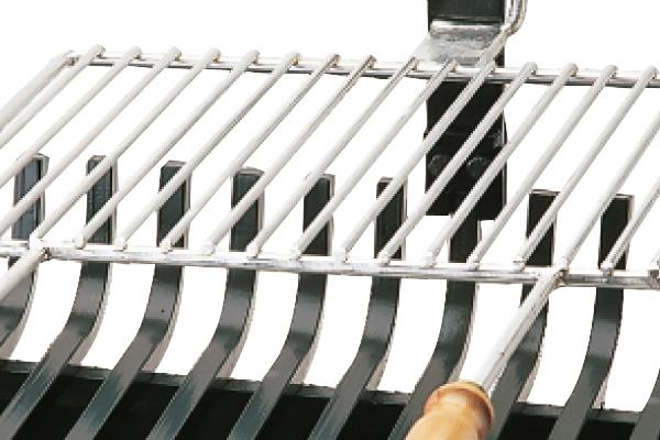 Σχάρα για τζάκι 658 με σταχτοθήκη λεπτομέρεια 2