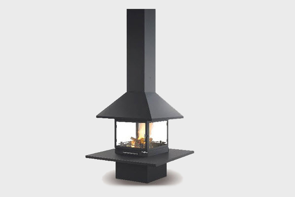 energy save fireplace Vulcano center from Traforart