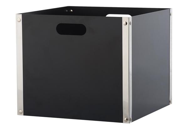 Ξυλιέρα τζακιού Κ31 Μαύρη με Νίκελ ματ λεπτομέρειες