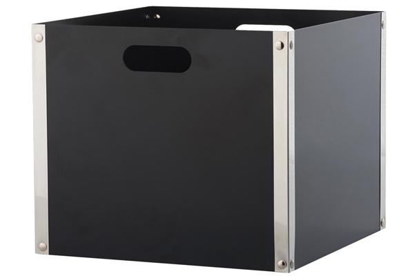 Ξυλιέρα τζακιού Κ31 μαύρο - νίκελ ματ