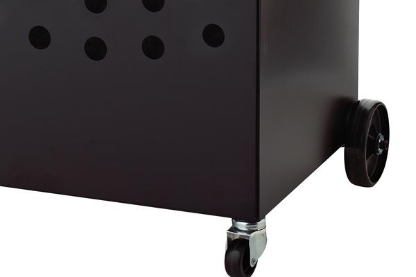 Ξυλιέρα τζακιού Κ50 μαύρο - νίκελ ματ λεπτομέρεια