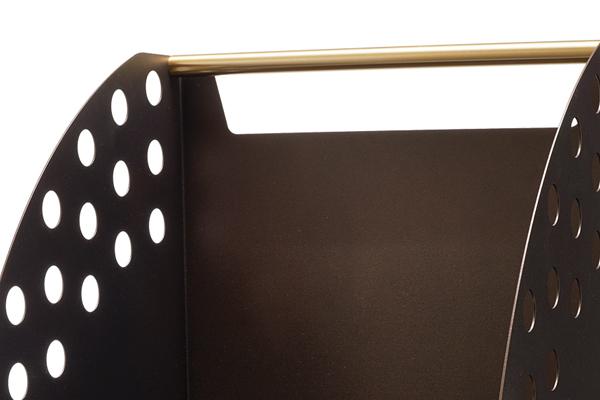 Ξυλιέρα τζακιού Κ50 αντικέ σκουριά - όρο ματ λεπτομέρεια