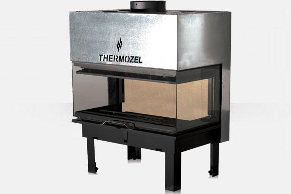 Ενεργειακό αερόθερμο τζάκι τρίφατσο AERO της Θερμοζέλ