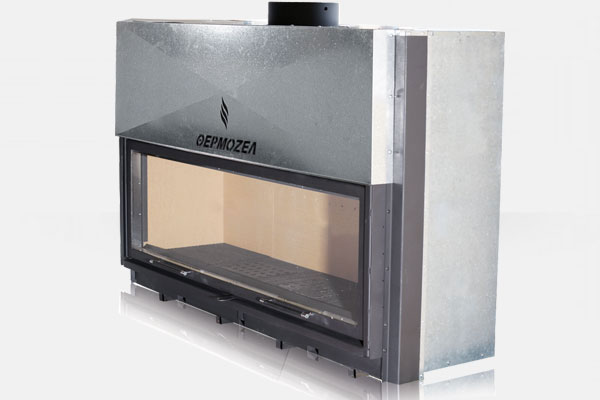 Ενεργειακό αερόθερμο τζάκι ARCHITECTURE 1400 της Θερμοζέλ