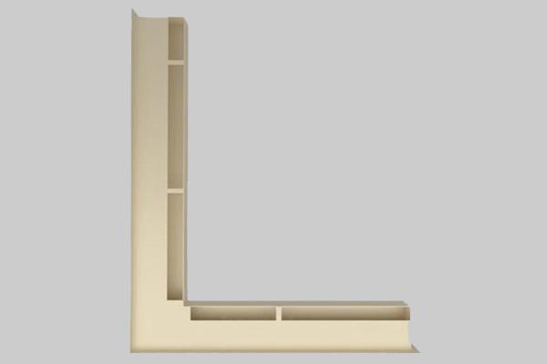 Περσίδα Luft αριστερή γωνία 6 x 55 x 77