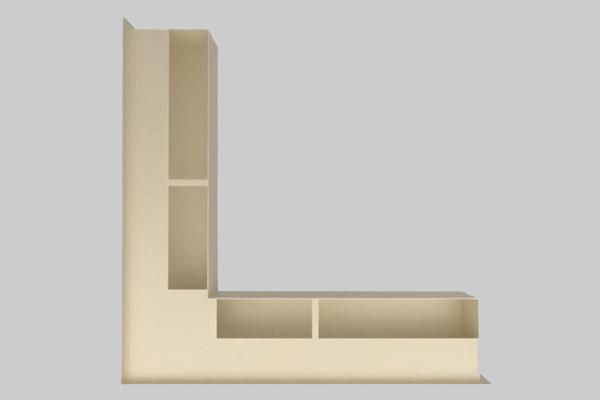 Περσίδα Luft αριστερή γωνία 9 x 56 x 56