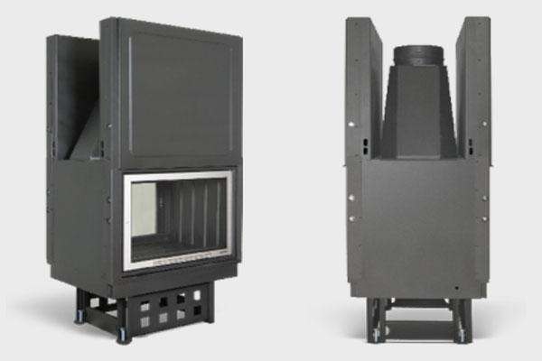 Ενεργειακό τζάκι special EFT 810 πλαϊνή όψη και σε ΙΝΟΧ