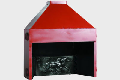 Metal fireplace 100 double chamber