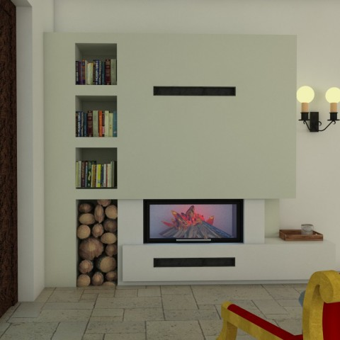 Middle fireplace 6
