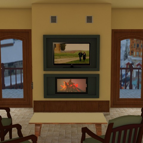 Middle fireplace 7