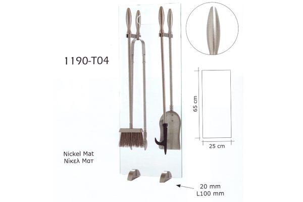 Κρεμανταλάς 1190 - Τ04 Νίκελ Ματ διαστάσεις