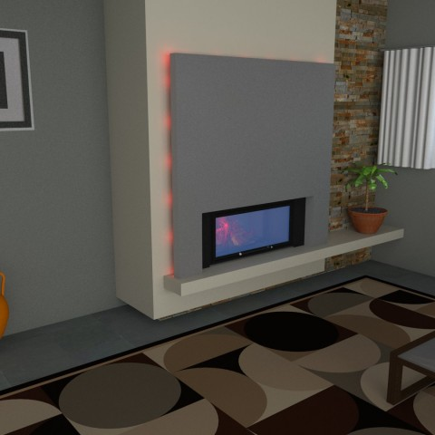 middle fireplace 9