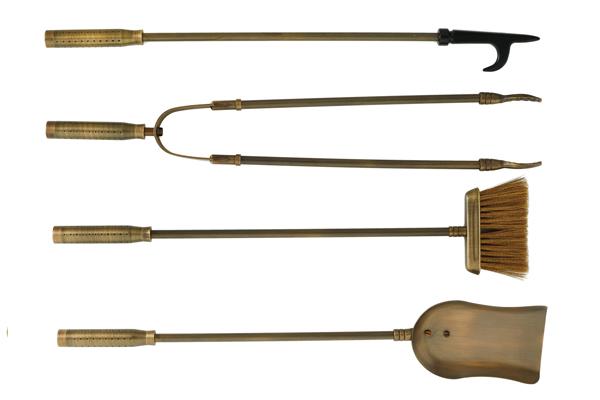 Eργαλεία τζακιού 1210 Μπρονζέ