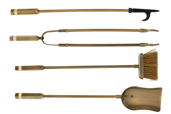 Eργαλεία τζακιού 1225 Μπρονζέ