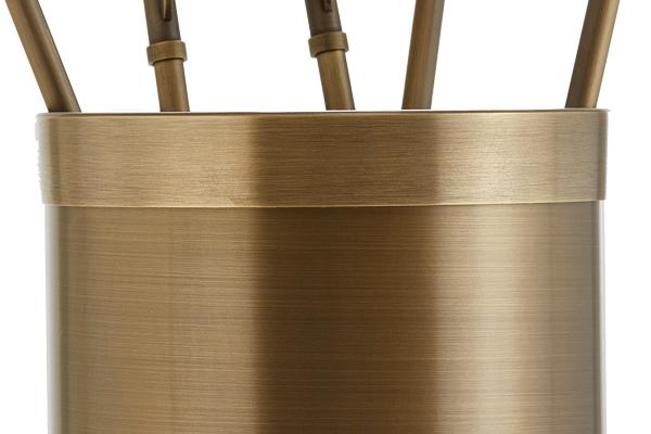 Κουβαδάκι τζακιού με εργαλεία Κ10-1190 Μπρονζέ λεπτομέρεια
