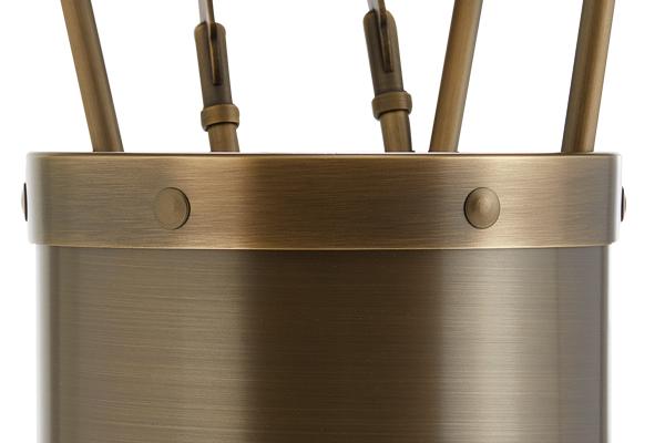 Κουβαδάκι τζακιού με εργαλεία Κ02-1190 Μπρονζέ λεπτομέρεια