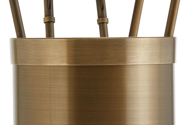 Κουβαδάκι τζακιού με εργαλεία Κ10-1195 Μπρονζέ λεπτομέρεια