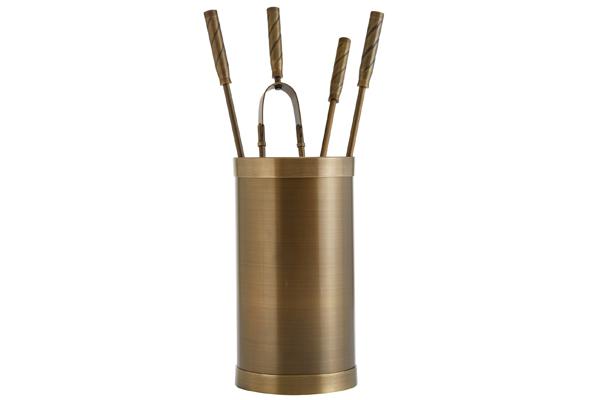 Κουβαδάκι τζακιού με εργαλεία Κ10-1195 Μπρονζέ