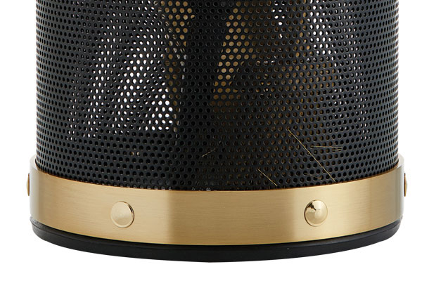 Fireplace accessories bucket with tools Κ16 - 1200 black - oro mat details