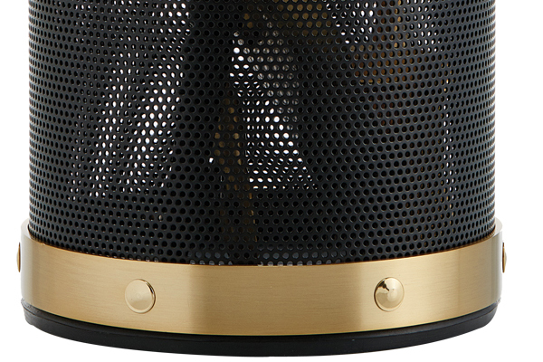 Fireplace accessories bucket with tools Κ16 - 1210 black - oro mat details